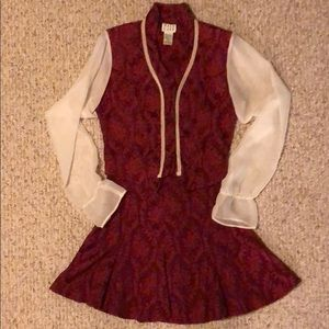Next Left Maroon Skirt